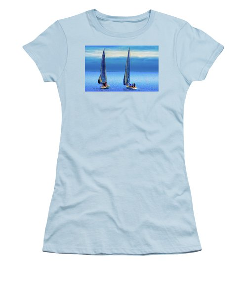 Sailing In The Blue Women's T-Shirt (Athletic Fit)