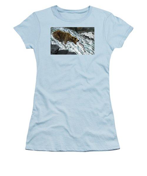Salmon Fishing Women's T-Shirt (Athletic Fit)