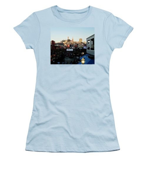 Women's T-Shirt (Junior Cut) featuring the photograph San Francisco In The Sun by Tony Mathews