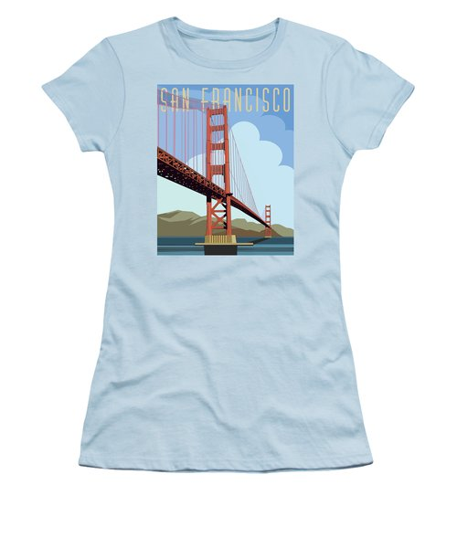 San Francisco Poster  Women's T-Shirt (Athletic Fit)