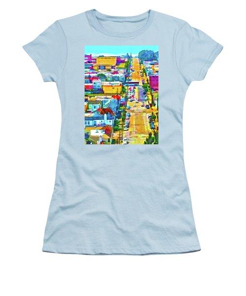San Francisco Quintara View Women's T-Shirt (Athletic Fit)