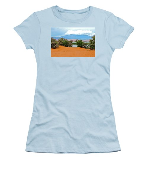 Sand Hallow Reservoir Women's T-Shirt (Athletic Fit)