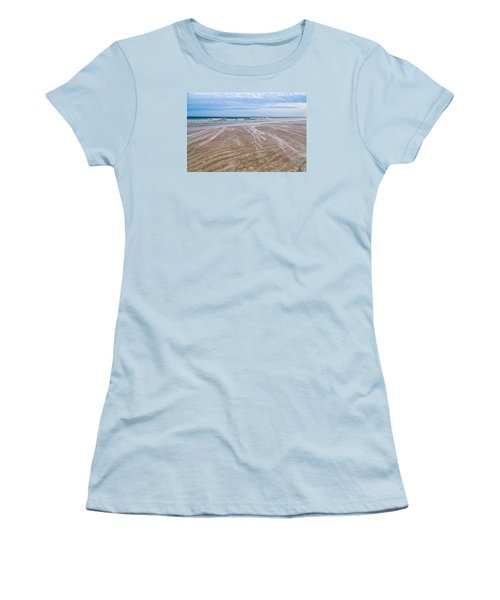 Sand Swirls On The Beach Women's T-Shirt (Junior Cut) by John M Bailey
