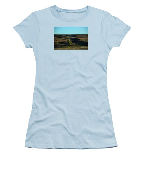Women's T-Shirt (Junior Cut) featuring the photograph Sandhills Hills by Mark McReynolds