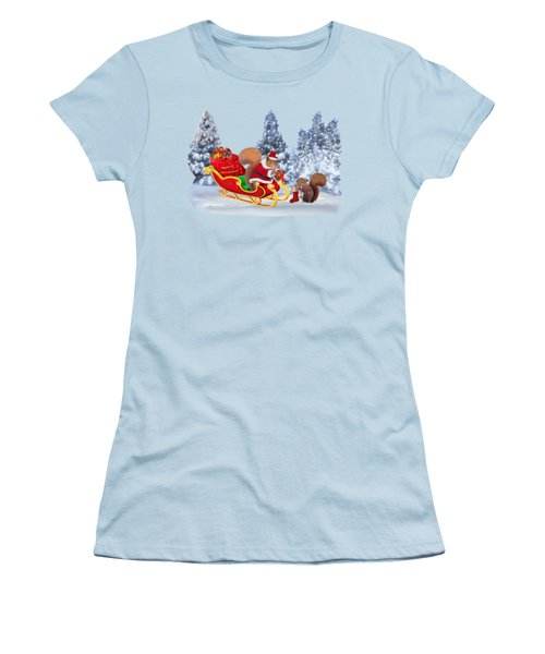 Santa's Little Helper Women's T-Shirt (Junior Cut) by Glenn Holbrook