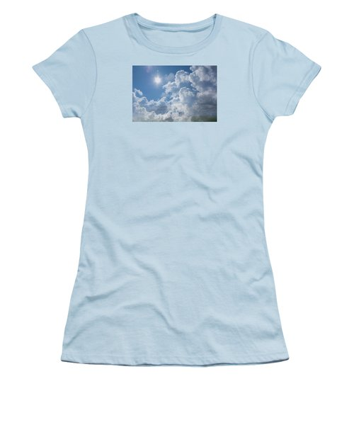 Sayers Homestead In The Clouds Women's T-Shirt (Junior Cut) by Ellery Russell
