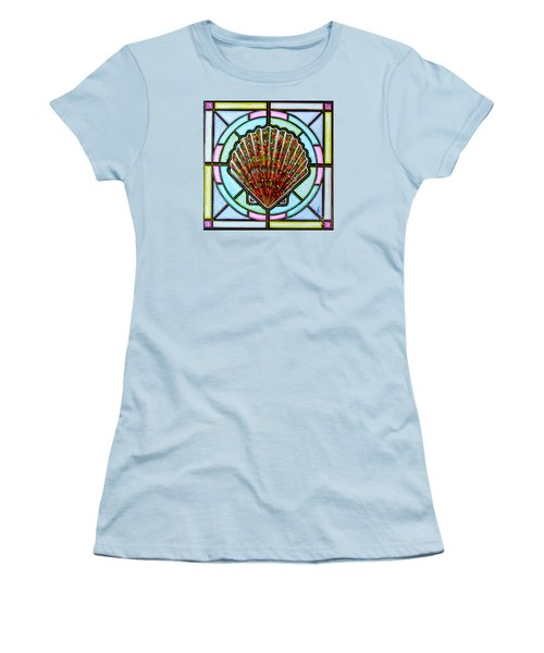 Women's T-Shirt (Junior Cut) featuring the painting Scallop Shell 1 by Jim Harris