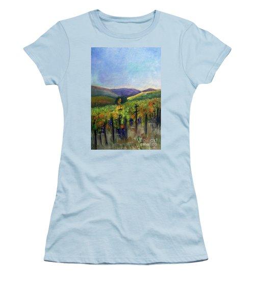 Scotts Vineyard Women's T-Shirt (Junior Cut) by Donna Walsh