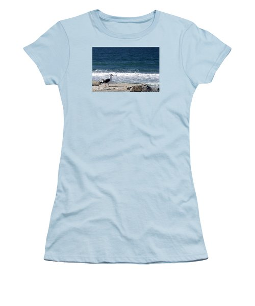 Women's T-Shirt (Junior Cut) featuring the photograph Seagull  by Christopher Woods