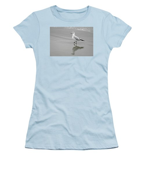 Sea Gull Walking In Surf Women's T-Shirt (Athletic Fit)