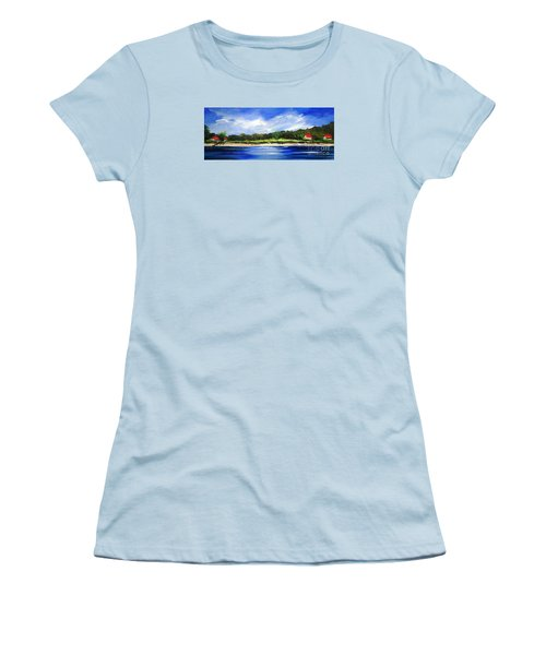 Sea Hill Houses - Original Sold Women's T-Shirt (Junior Cut) by Therese Alcorn