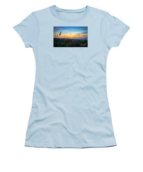 Sea Oats Sunrise Women's T-Shirt (Athletic Fit)