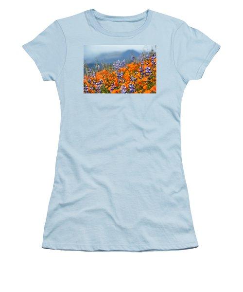 Sea Of California Wildflowers Women's T-Shirt (Junior Cut) by Kyle Hanson