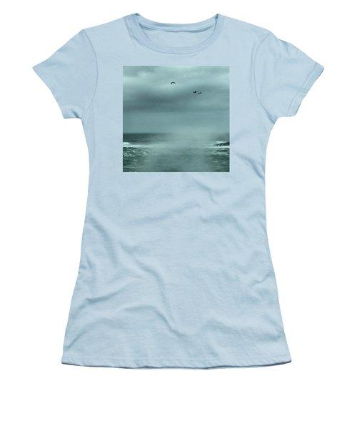 Sea Spray Women's T-Shirt (Junior Cut) by Christine Lathrop