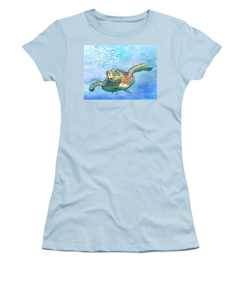 Sea Turtle Series #2 Women's T-Shirt (Athletic Fit)