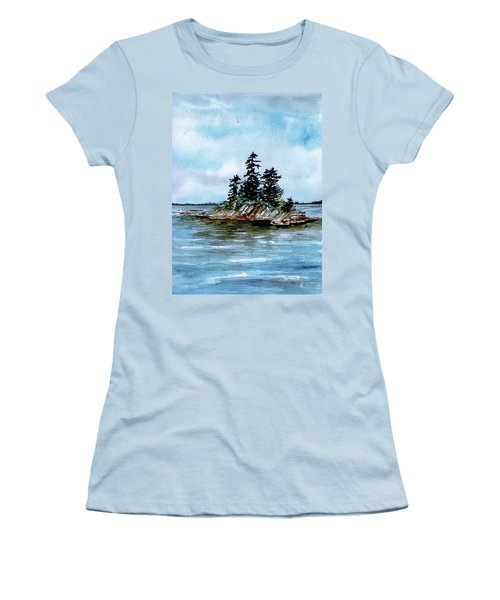 Seascape Casco Bay Maine Women's T-Shirt (Athletic Fit)