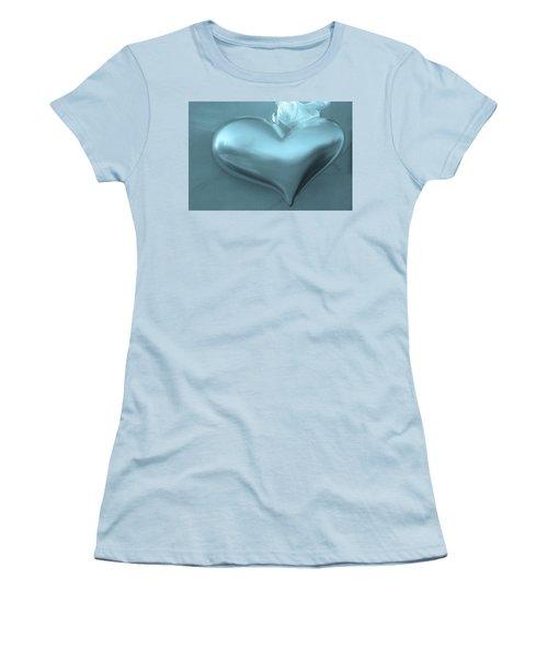 Women's T-Shirt (Junior Cut) featuring the photograph Secret Heart by Juergen Weiss