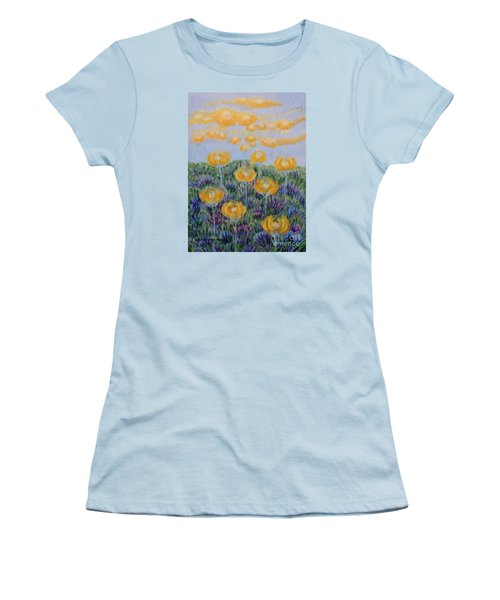 Women's T-Shirt (Junior Cut) featuring the painting Seeing Through by Holly Carmichael