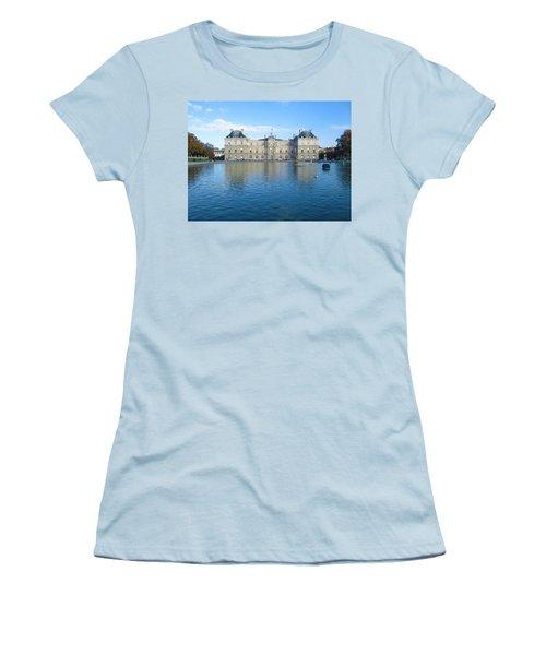 Women's T-Shirt (Junior Cut) featuring the photograph Senat From Jardin Du Luxembourg by Christopher Kirby