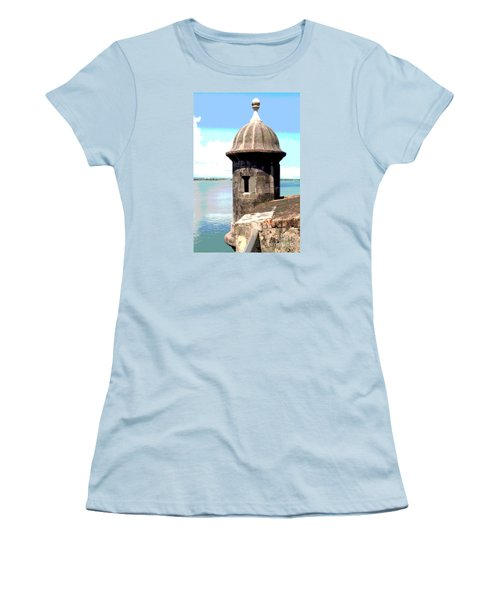 Women's T-Shirt (Junior Cut) featuring the photograph Sentry Box In El Morro by The Art of Alice Terrill