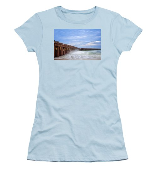 Women's T-Shirt (Athletic Fit) featuring the photograph Separation by Alan Raasch