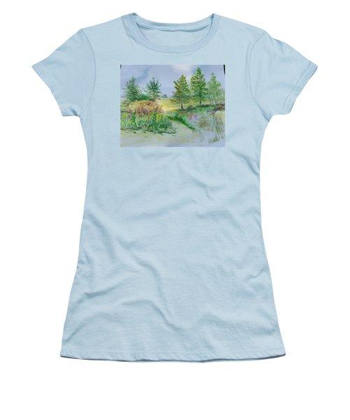 September At Kickapoo Creek Park Women's T-Shirt (Athletic Fit)