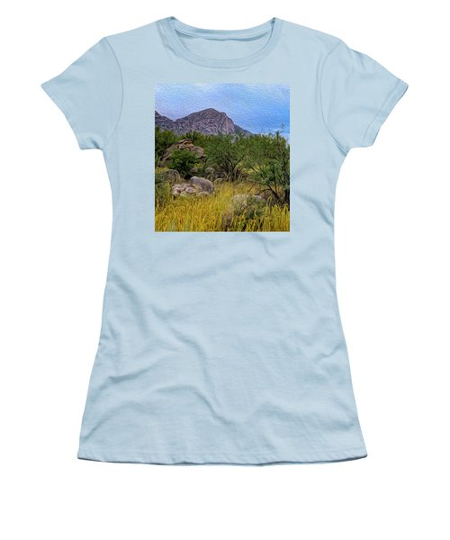 Women's T-Shirt (Athletic Fit) featuring the photograph September Oasis No.2 by Mark Myhaver