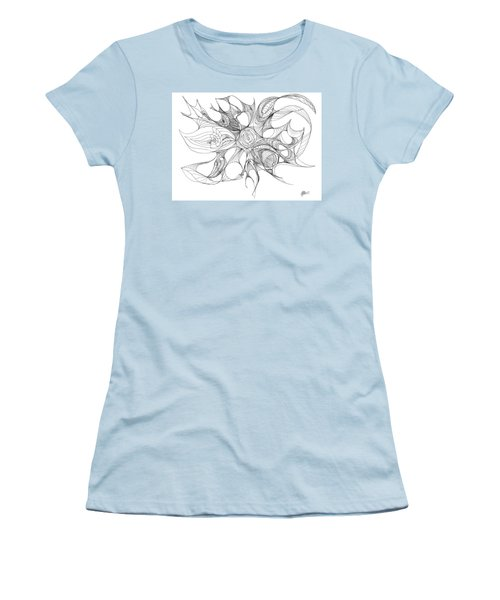 Serenity Swirled Women's T-Shirt (Junior Cut) by Charles Cater