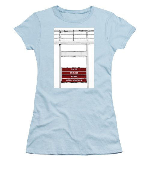 Women's T-Shirt (Junior Cut) featuring the photograph Services Rendered by Stephen Mitchell