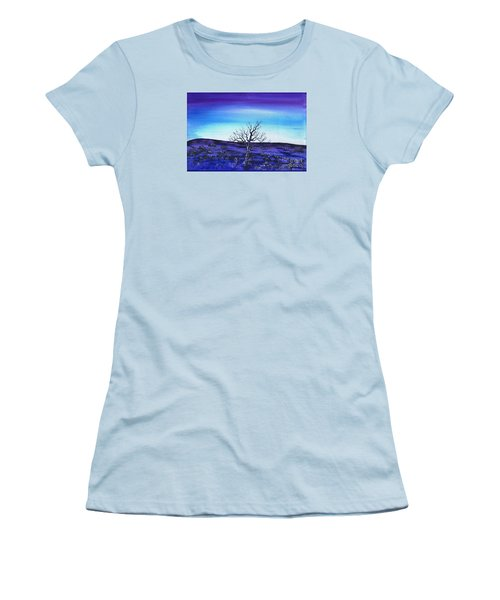 Women's T-Shirt (Junior Cut) featuring the painting Shades Of Blue by Kenneth Clarke