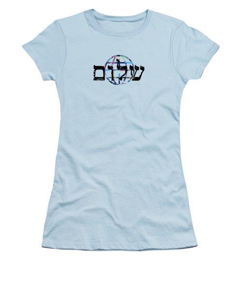 Shalom  Women's T-Shirt (Junior Cut) by Mark Ashkenazi