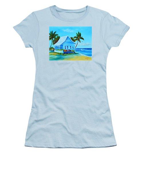 Shanty In Jamaica Women's T-Shirt (Junior Cut) by Lloyd Dobson