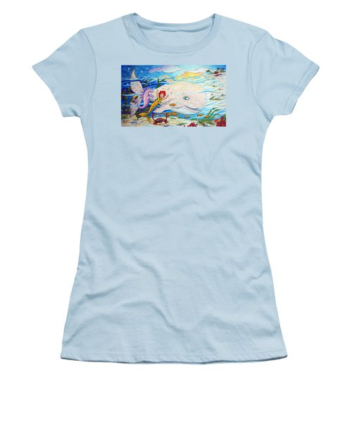 She Joyfully Swims  Women's T-Shirt (Junior Cut) by Matt Konar