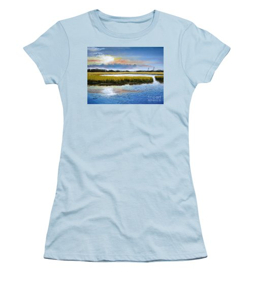 Shem Creek Sky Women's T-Shirt (Athletic Fit)