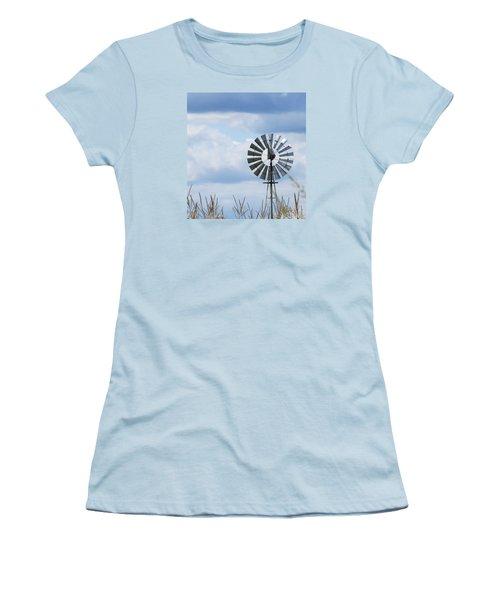 Shiny Windmill Women's T-Shirt (Junior Cut) by Jeanette Oberholtzer