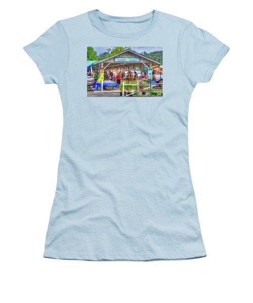 Shop Local Women's T-Shirt (Athletic Fit)