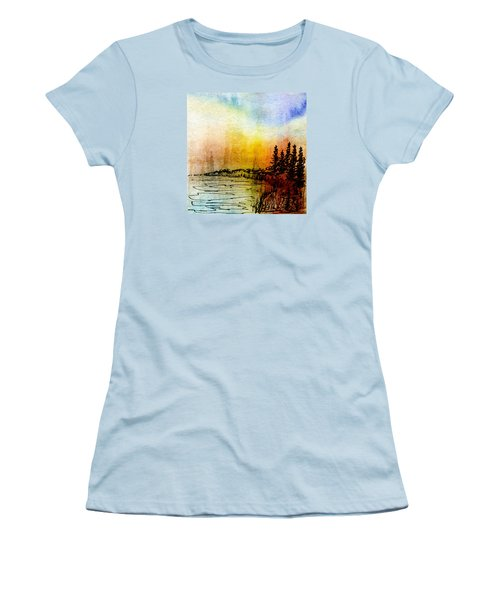 Shoreline Women's T-Shirt (Junior Cut) by R Kyllo