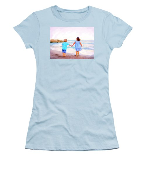 Sibling At Sunset Women's T-Shirt (Athletic Fit)