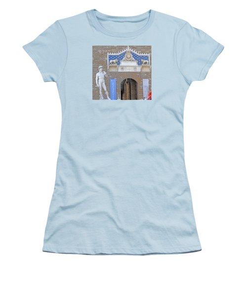 Signoria Square's David Women's T-Shirt (Junior Cut) by Allan Levin