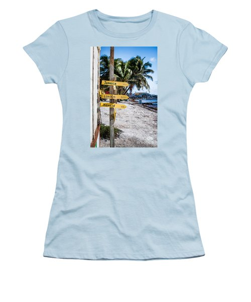 Women's T-Shirt (Junior Cut) featuring the photograph Signs by Lawrence Burry