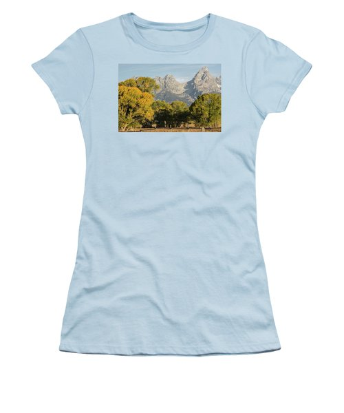 Women's T-Shirt (Athletic Fit) featuring the photograph Signs Of Autum by Colleen Coccia