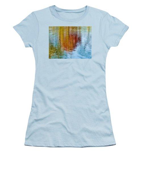Silver Lake Autumn Reflections Women's T-Shirt (Junior Cut) by Michael Bessler