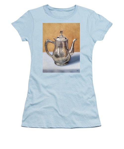 Silver Teapot Women's T-Shirt (Athletic Fit)
