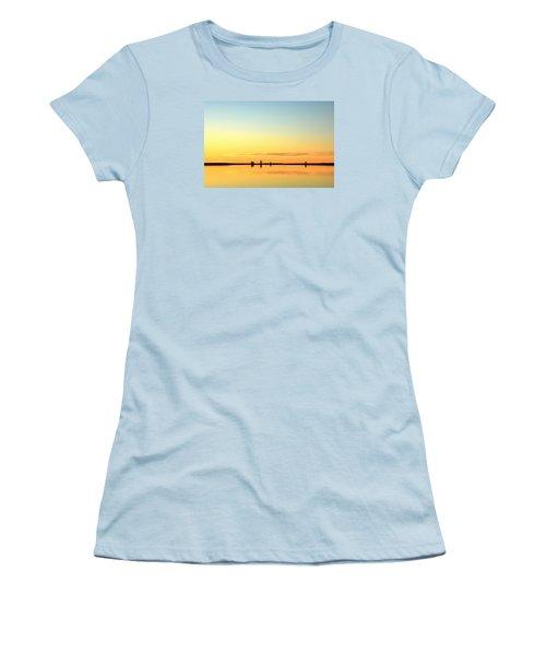 Simple Sunrise Women's T-Shirt (Junior Cut) by Fiskr Larsen