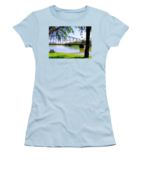 Women's T-Shirt (Junior Cut) featuring the photograph Sitting In Fort Benton by Susan Kinney