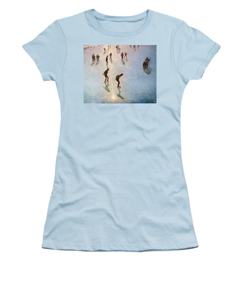 Skating In The Sunset  Women's T-Shirt (Athletic Fit)