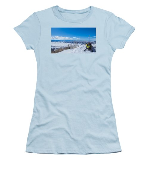 Ski Patrol Women's T-Shirt (Junior Cut) by Sean Allen