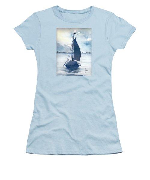 Skutsje No.2 Women's T-Shirt (Junior Cut) by Annemeet Hasidi- van der Leij