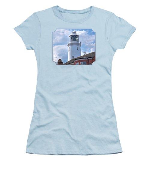 Sky High - Southwold Lighthouse Women's T-Shirt (Junior Cut) by Gill Billington