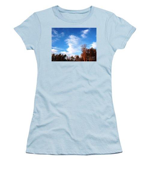 Women's T-Shirt (Junior Cut) featuring the photograph Sky Study 1 3/11/16 by Melissa Stoudt
